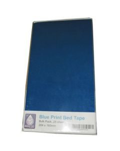 Precut Bilby Blue Painters Tape for Replicator 2 - 25 Pack